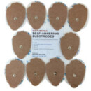 Santamedical 10 Snap-On Re-Usable Tan Carbon Electrode Pads with Premium Gel (Hand Shape )