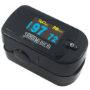Santamedical Generation 2 SM-1100 Fingertip Pulse Oximeter Oximetry Blood Oxygen Saturation Monitor with batteries and lanyard